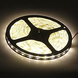 Ch&Ch 5M 300x3528 SMD Warm White Light LED Strip Lamp (12V)