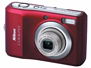 Nikon Coolpix L20 Digitalkamera (10 Megapixel, 4-fach optischer Zoom, 7,6 cm (3 Zoll) Display) rot