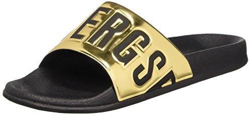 Bikkembergs Swimm-Er 414 Sandal M Shiny S.Leather Sandali a punta aperta, Uomo, Oro, 44