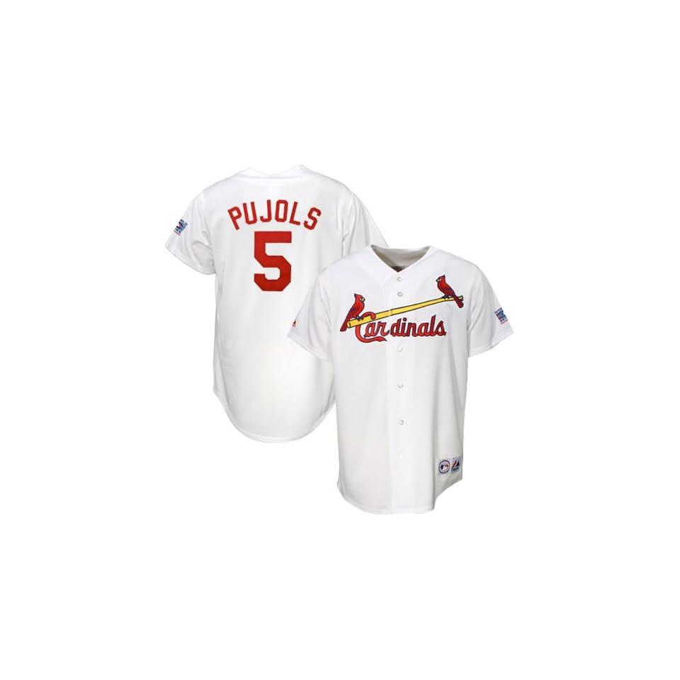 90c083792eb Majestic St. Louis Cardinals  5 Albert Pujols White World Series Replica  Baseball Jersey