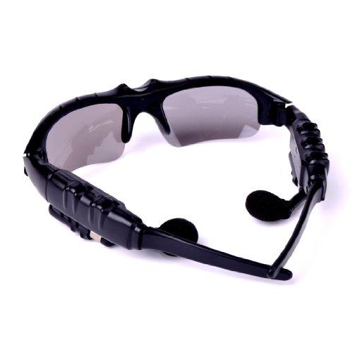Wireless Glass Black Sunglasses Sun Glasses Bluetooth Headset Headphone Black