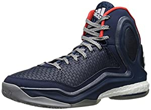 adidas Performance Men's D Rose 5 Boost Basketball Shoe, Collegiate Navy, 8.5 M US