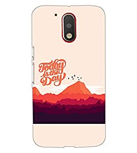 PrintDhaba QUOTE D-7014 Back Case Cover for MOTOROLA MOTO G4 (Multi-Coloured)