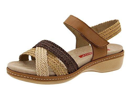 Scarpe donna comfort pelle Piesanto 6809 sandali soletta estraibile comfort larghezza speciale