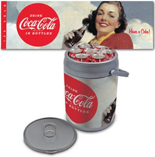 Picnic Time Coca-Cola Can Cooler (Coca-Cola Beauties) - Silver front-518509
