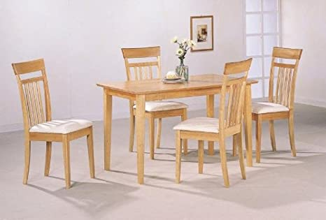 5 Piece Dining Set in Maple Finish
