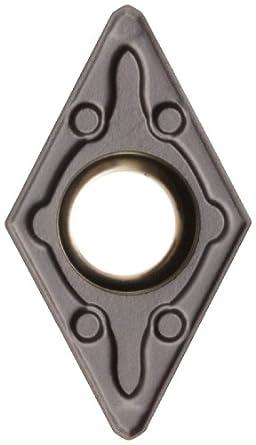 Sandvik Coromant CoroTurn 107 Carbide Turning Insert, DCMX Style, 55 Degree Diamond Shape, WM Chipbreaker, GC3215 Grade, Multi-Layer Coating