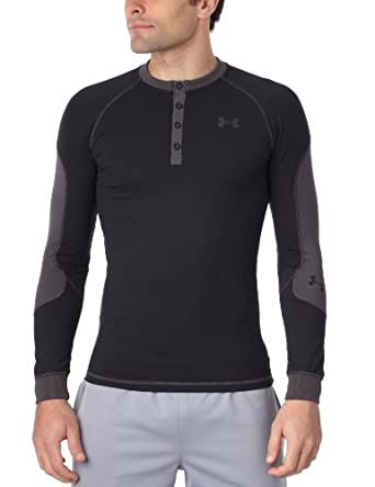 Under Armour Men UA Catalyst Coldgear Henley Long Sleeve T-Shirt Blouse by Under Armour