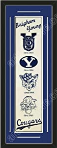 Heritage Banner Of Brigham Young With Team Color Double Matting-Framed Awesome &... by Art and More, Davenport, IA
