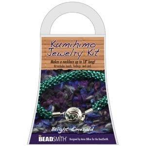 Kumihimo Jewelry Kit Bright Emerald