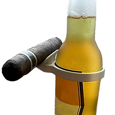 CigarZup Cigar Holder. Fits onto any Bottled Beverage! Perfect Gift, Cigar Accessory for any Cigar Enthusiast!