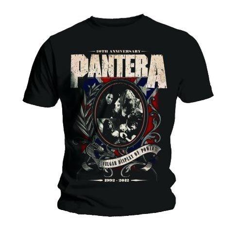 Maglietta ufficiale PANTERA Logo in metallo di tutte le misure Nero  nero