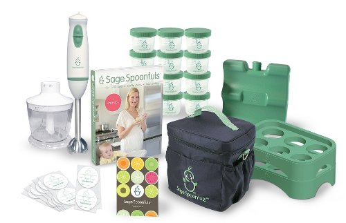 "Save Price Baby Food Maker - Sage Spoonfuls Award-Winning All Natural Baby Food System - ""On the Go"" Package complete with Immersion Blender and Food Processor, Storage Jars, Trays, Recipe Book, and Insulated Cooler Tote  Review"