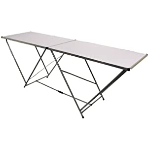 Hartleys 2m Aluminium Folding Table - White - Event/Garden Table from Hartleys