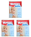 Huggies Sensitive Baby Wipes, Refill, 184-Count Pack (Pack of 3) Baby, NewBorn, Children, Kid, Infant