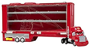 Mattel Disney Cars W7170 - Mack Transporter, zum Sammeln von 18 Micro Drifters Fahrzeugen