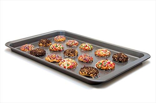 Culina Teglia da forno antiaderente, rettangolare, grandi dimensioni 43 x 28 cm. In Acciaio al Carbonio, Cottura Uniforme, facile rilascio del cibo