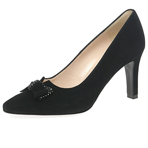 Peter Kaiser Tanja Womens Nero Scarpe Décolleté In Suede 4.5 UK/ 37.5 EU Black Suede/Silver