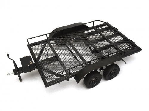 Team Raffee Co. #BRQ90262 1/10 Scale Aluminum Dual Axle Trailer For Scale Trucks & Crawlers W/ Leaf Spring (Rc 1 10 Trailer Kit compare prices)