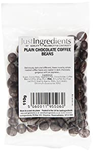 JustIngredients Plain Chocolate Coffee Beans 110g (Pack of 6)
