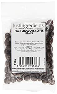 JustIngredients Essential Plain Chocolate Coffee Beans 110g (Pack of 6)