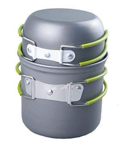 Outop Picnic Camping Hiking Backpacking Pot Pan Cookware Outdoor Cooking Bowl Set of 2 pcs