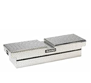 Lund/Tradesman 111052 70-Inch Economy Line Aluminum Gull Wig Cross Bed Truck Tool Box, Diamond Plated, Silver