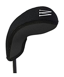 Stealth Club Covers 28110 W Wedge or Lob Wedge Golf Club Head Cover, Black Solid