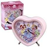 Disney Princess Retro Alarm Clock - Heart Shape Princess Alarm Clock