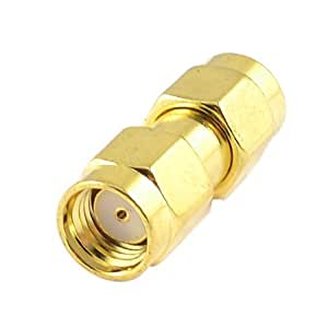 Gold Tone Straight SMA Female to Female Plug RF Coaxial Adapter Connector