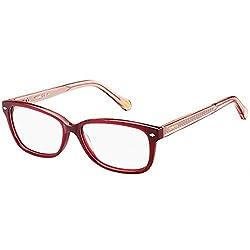Fossil Women Wayfarer Burgendy Red Frames FOS-6063-OKI-BRGNDY-PINK