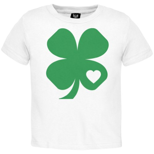 St. Patrick'S Day - Shamrock Heart Toddler T-Shirt - 4T White front-1004209