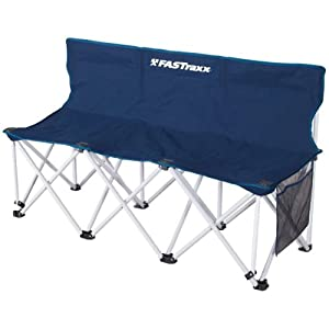 Portable Folding Sports Bench Sideline Collapsible Bench 3 Seats With Carry Case