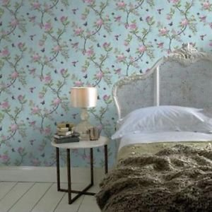 Graham and Brown Chinoiserie Wallpaper - Duck Egg from New A-Brend
