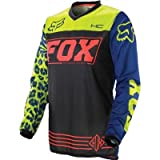 Fox Racing 2014 Girl's Peewee HC Jersey (MEDIUM) (BLACK/BLUE)