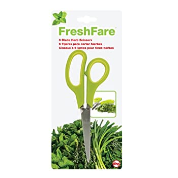 FreshFare Herb Scissors is a 6-blade scissors that creates finely chops herbs quickly and effortlessly.