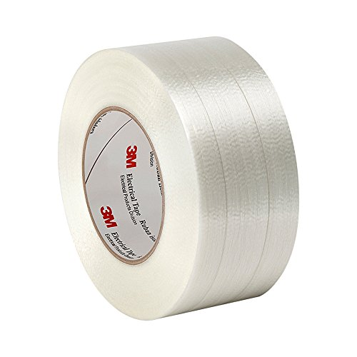 "Tapecase 1139 2"" X 60Yd Clear Polyester Film/Glass Filament 3M Reinforced Electrical Tape 1139, 311 Degrees F Performance Temperature, 0.0065"" Thickness, 60 Yd Length, 2"" Width"
