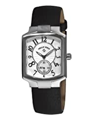 Philip Stein Women's 21-FMOP-CB Classic Black Calfskin Leather Strap Watch