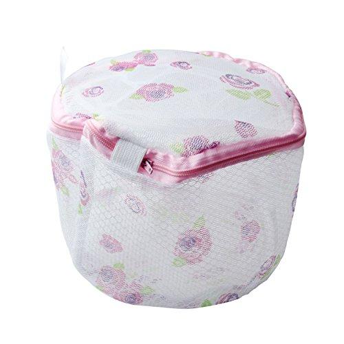 Umiwe(Tm) Mesh Nylon Strawberries Print & Zipper Closure Laundry Underwear /Bra Care Wash Bags With Stent With Umiwe Accessory Peeler