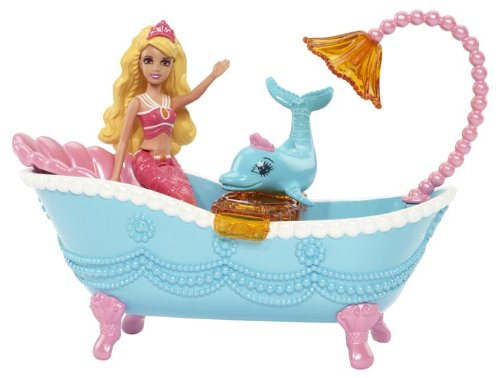 Barbie The Pearl Princess Small Doll Furniture Set Blue
