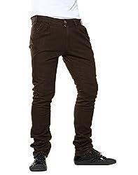Mavango Jeans- Brown with trouser cut pockets