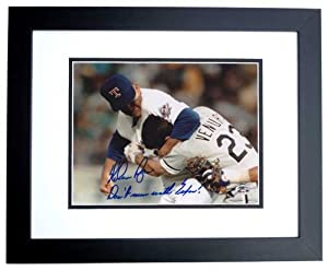 Nolan Ryan Autographed Hand Signed Texas Rangers 8x10 Photo - with DON
