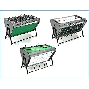Tri sport multi games table table football air hockey amp pool air