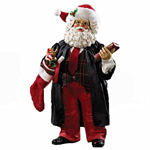 #!Cheap Kurt Adler 10-Inch Fabriche Lawyer Santa