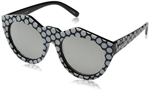 Le Specs Neo Noir Sonnenbrille onesize, black white spots silver