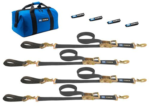 Buy Discount Mac's Tie-Downs 511208 Black Ultra Pack with 8' x 2 Ratchet Straps and 24 Axle Straps