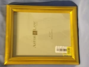 "8"" X 10"" Matte Gold Picture Frame for Table Top or Wall"