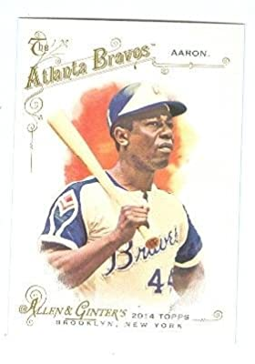 Hank Aaron baseball card (Atlanta Braves Hall of Famer) 2014 Topps Allen Ginters #129