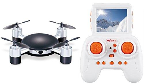 Hasakee Mini Quadcoptère Drone RC avec HD Caméra et écran,boucle 3D, 2.4Ghz 6 Axes Gyroscopiques