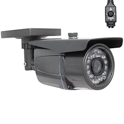 GW Security Professional 900TVL Cmos with IR-Cut Outdoor Security Camera - 900 TV Lines, 3.6mm Wide Angle Lens